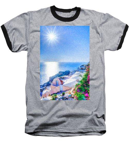 Oia Santorini Grk4178 Baseball T-Shirt