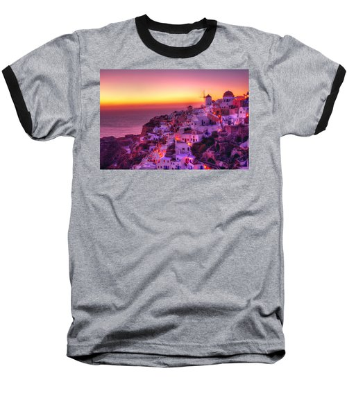Oia Sunset Baseball T-Shirt