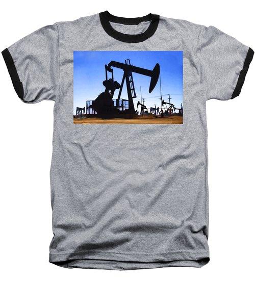 Oil Fields Baseball T-Shirt