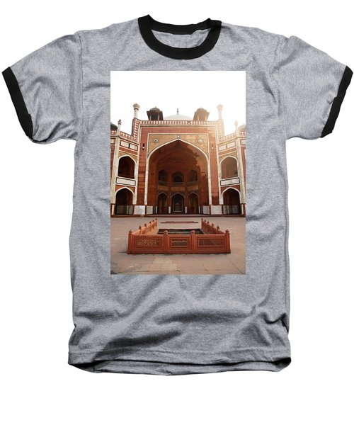 Oil Painting - Cross Section Of Humayun Tomb Baseball T-Shirt