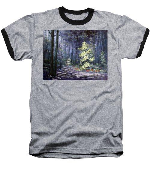 Oil Painting - Forest Light Baseball T-Shirt