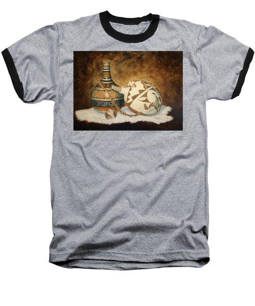 Oil Painting - Indian Pots Baseball T-Shirt