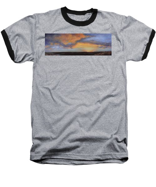 Oil Painting When The Sky Turns Color Baseball T-Shirt