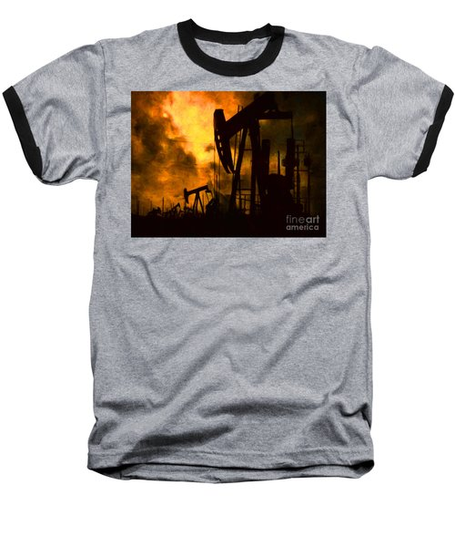 Oil Pumps Baseball T-Shirt