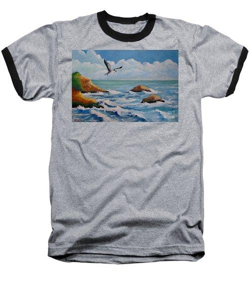 Oiseau Solitaire Baseball T-Shirt