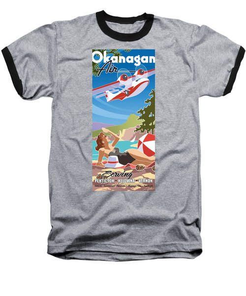 Okanagan Air, Mid Century Fun Baseball T-Shirt