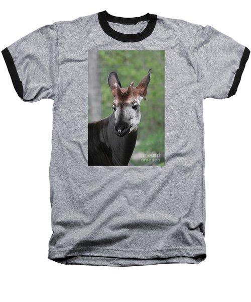 Baseball T-Shirt featuring the photograph Okapi #2 by Judy Whitton