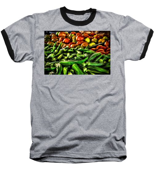 Okra And Tomatoes Baseball T-Shirt