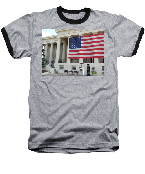 Baseball T-Shirt featuring the photograph Ol' Glory by Aaron Martens