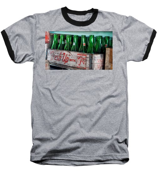 Old 7 Up Bottles Baseball T-Shirt by Thomas Woolworth