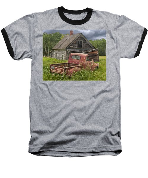 Old Abandoned Homestead And Truck Baseball T-Shirt
