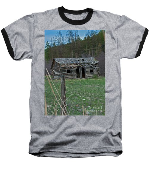 Baseball T-Shirt featuring the photograph Old Abandoned Homestead Cabin Art Prints by Valerie Garner