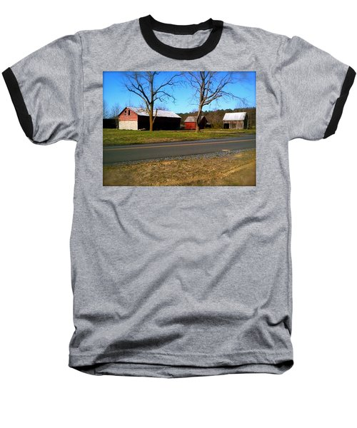 Baseball T-Shirt featuring the photograph Old Barn by Amazing Photographs AKA Christian Wilson