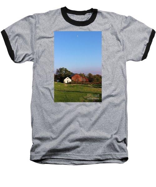 Old Barn At Sunset Baseball T-Shirt