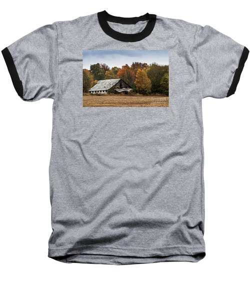 Baseball T-Shirt featuring the photograph Old Barn by Debbie Green