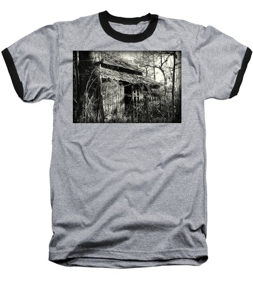 Old Barn In Black And White Baseball T-Shirt