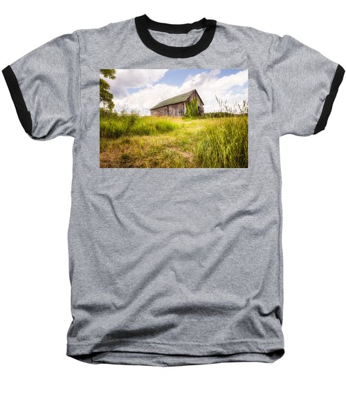 Baseball T-Shirt featuring the photograph Old Barn In Ontario County - New York State by Gary Heller