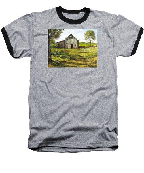 Old Barn Baseball T-Shirt by Lee Piper