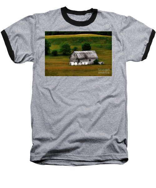 Old Barn Near Buckhannon Baseball T-Shirt by Dan Friend