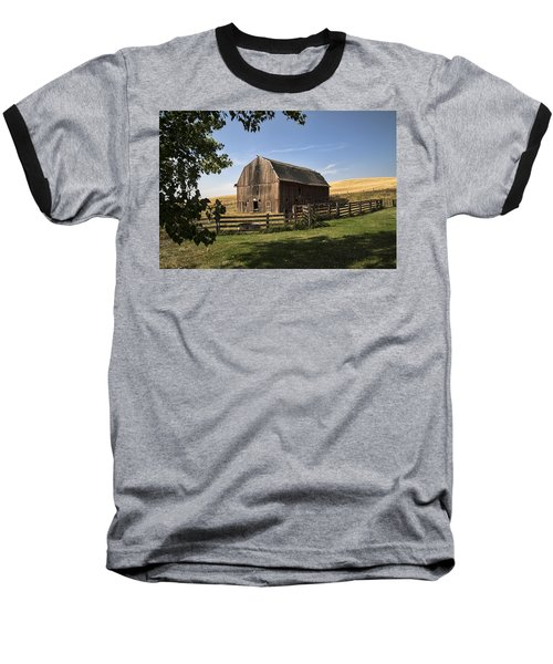Old Barn On The Palouse Baseball T-Shirt