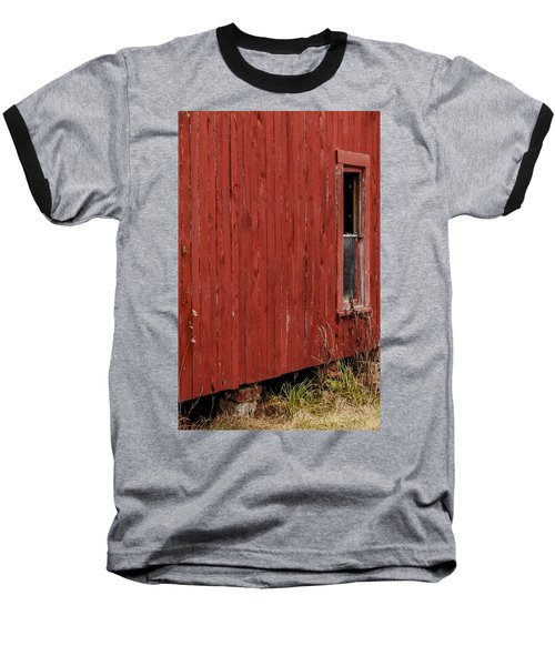 Baseball T-Shirt featuring the photograph Old Barn Window by Debbie Karnes