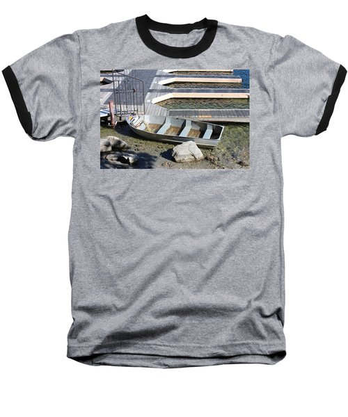 Old Boat And Dock Baseball T-Shirt