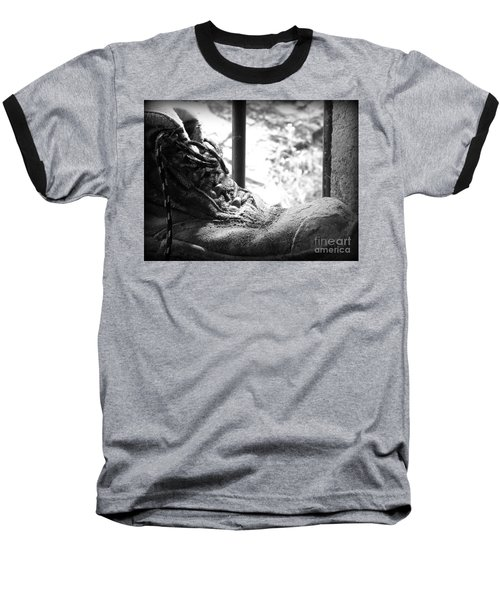 Baseball T-Shirt featuring the photograph Old Boots by Clare Bevan