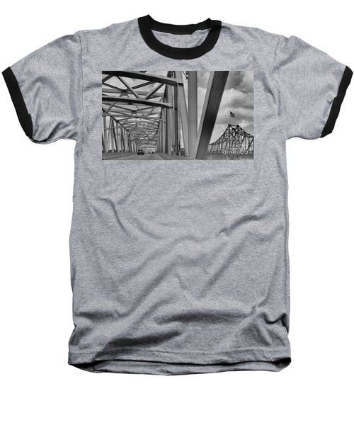 Baseball T-Shirt featuring the photograph Old Bridge New Bridge by Janette Boyd
