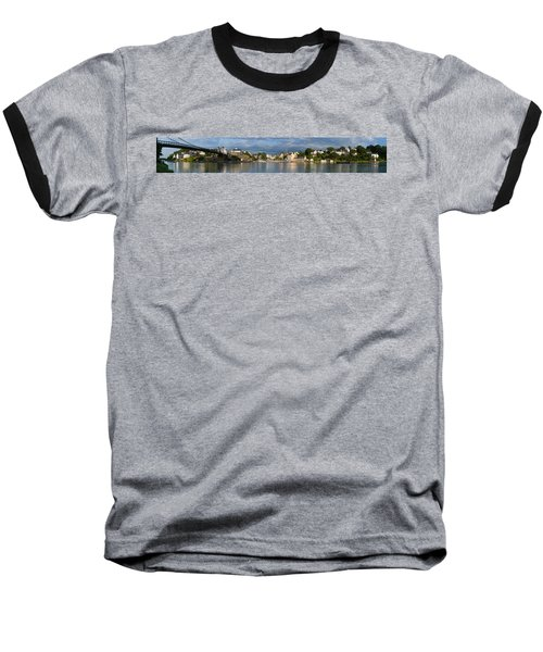 Old Bridge Over The Sea, Le Bono, Gulf Baseball T-Shirt by Panoramic Images