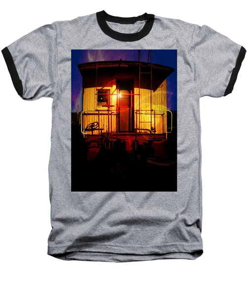 Old Caboose  Baseball T-Shirt by Aaron Berg