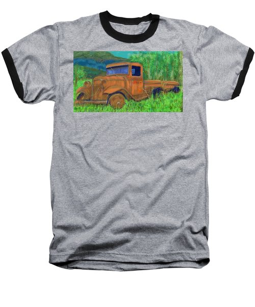 Old Canadian Truck Baseball T-Shirt