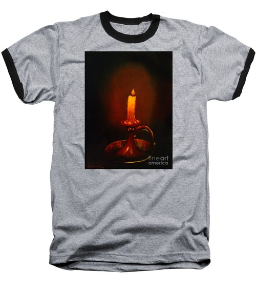 Old Candle Stick Painting Baseball T-Shirt by Becky Lupe