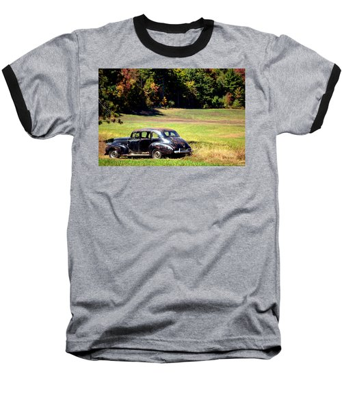 Old Car In A Meadow Baseball T-Shirt