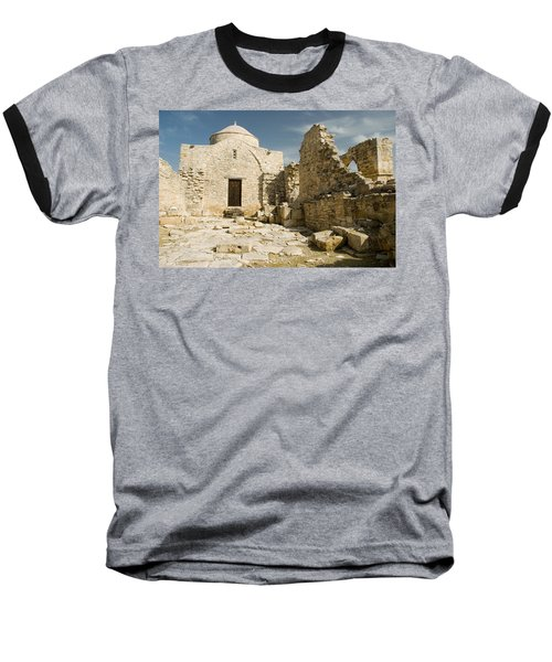 Old Church Anogyra  Baseball T-Shirt by Jeremy Voisey