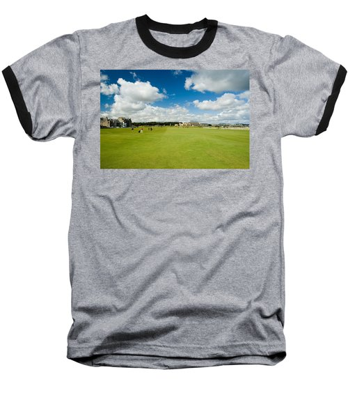 Old Course Fairways Baseball T-Shirt by Jeremy Voisey