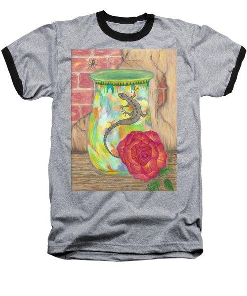 Old Crock And Rose Baseball T-Shirt