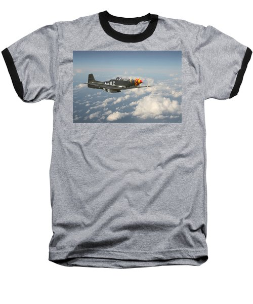 P51 Mustang - 'old Crow' Baseball T-Shirt