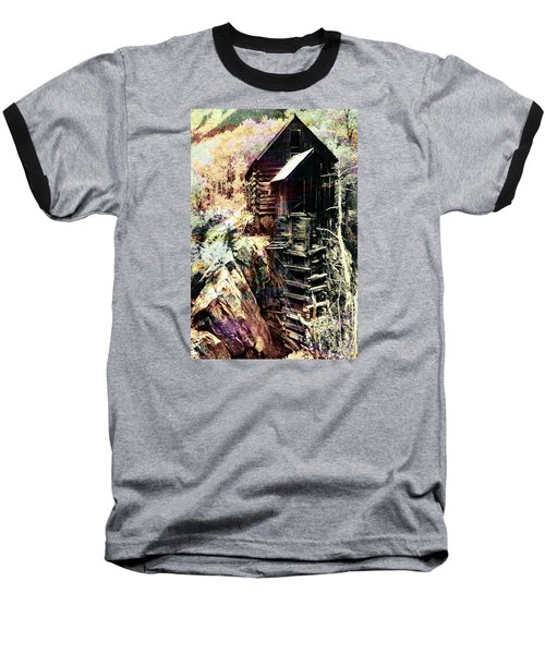 Old Crystal Mill Crystal Colorado Baseball T-Shirt by Paula Ayers