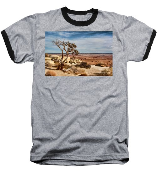 Baseball T-Shirt featuring the photograph Old Desert Cypress Struggles To Survive by Michael Flood