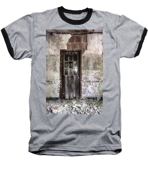 Old Door - Abandoned Building - Tea Baseball T-Shirt
