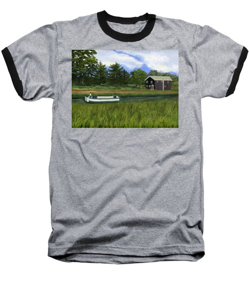 Baseball T-Shirt featuring the painting Old Erie by Lynne Reichhart