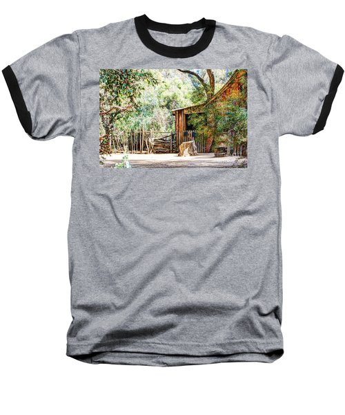 Old Farm Building Baseball T-Shirt