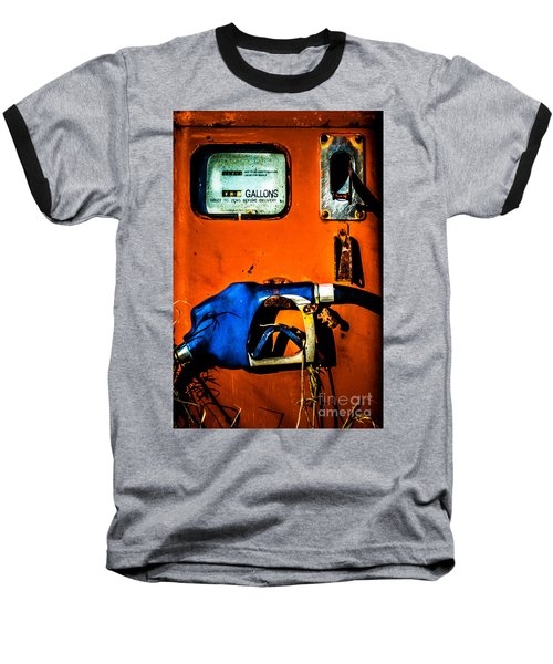 Old Farm Gas Pump Baseball T-Shirt