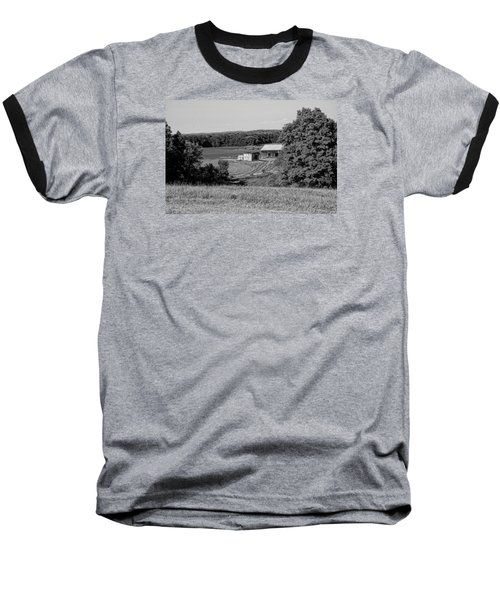 Old Farm House Revisited Baseball T-Shirt