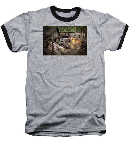 Old Farm Pickup Truck Baseball T-Shirt