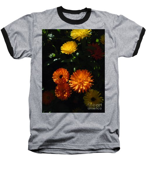 Old-fashioned Marigolds Baseball T-Shirt by Martin Howard