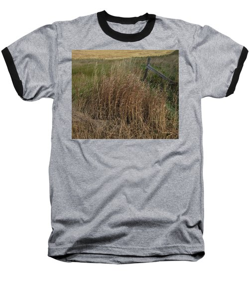 Old Fence Line Baseball T-Shirt by Donald S Hall