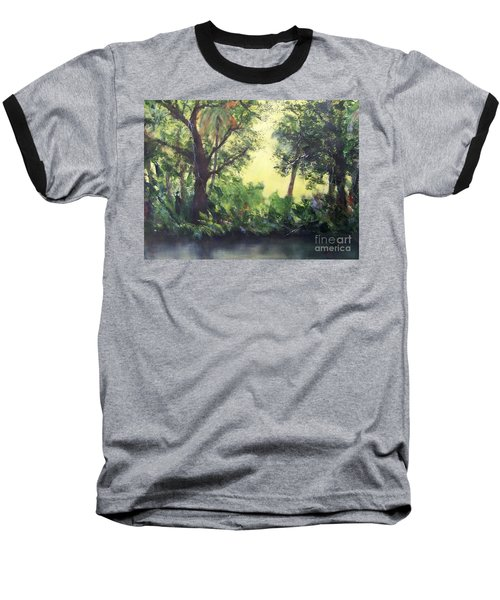 Baseball T-Shirt featuring the painting Old Florida 2 by Mary Lynne Powers