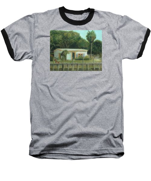 Old Florida Fish Camp And Marina Baseball T-Shirt