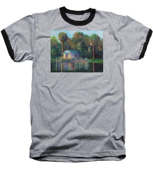 Old Florida Morning At Salt Springs Baseball T-Shirt